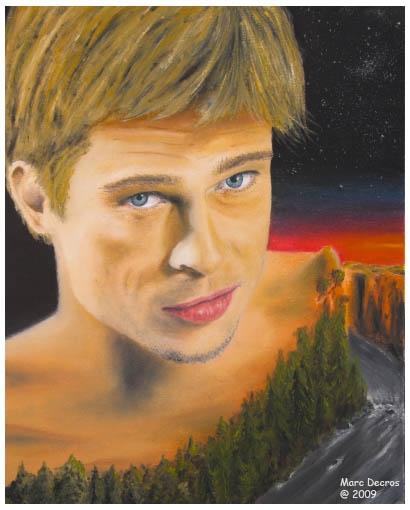 Brad Pitt by marco
